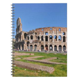 Cadernos Espiral Colosseum em Roma, Italia