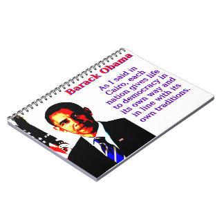 Cadernos Espiral Como eu disse no Cairo - Barack Obama