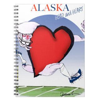 Cadernos Espiral coração principal de Alaska, fernandes tony