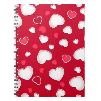 Cadernos Espiral Corações bonitos