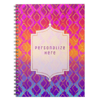 Cadernos Espiral Costume Glam marroquino árabe das cores brilhantes