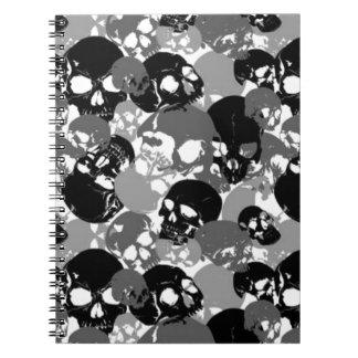 Cadernos Espiral Crânio Black&White