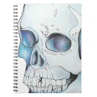 Cadernos Espiral Crânio de cristal rachado