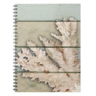 Cadernos Espiral Creme colorido coral