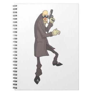 Cadernos Espiral Criminoso perigoso do assassino profissional