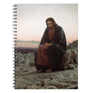 Cadernos Espiral Cristo na região selvagem - belas artes de Ivan