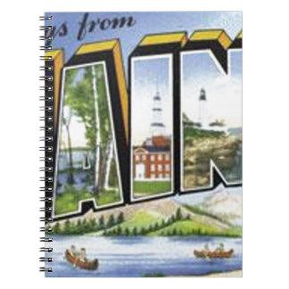 Cadernos Espiral Cumprimentos de Maine