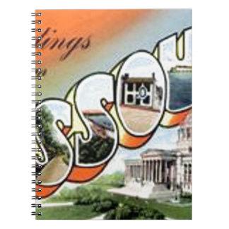 Cadernos Espiral Cumprimentos de Missouri