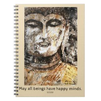 Cadernos Espiral Da arte feliz da aguarela das citações de Buddha