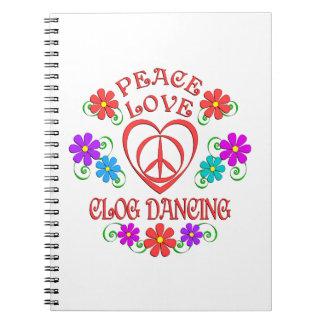 Cadernos Espiral Dança de obstrução do amor da paz