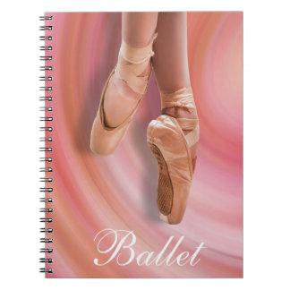 Cadernos Espiral Dançarino de balé no rosa