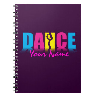 Cadernos Espiral Dançarino personalizado da dança