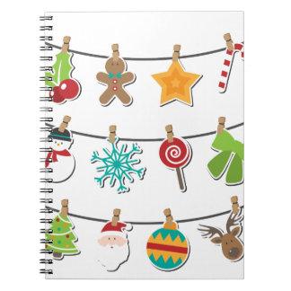 Cadernos Espiral Decoração de suspensão do Xmas do Natal bonito