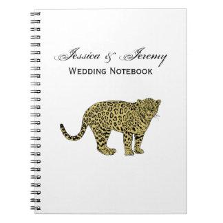 Cadernos Espiral Desenho manchado chita do gato do leopardo do