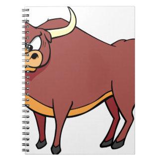Cadernos Espiral Desenhos animados irritados de Bull