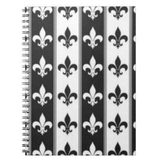 Cadernos Espiral Design branco preto do impressão do teste padrão