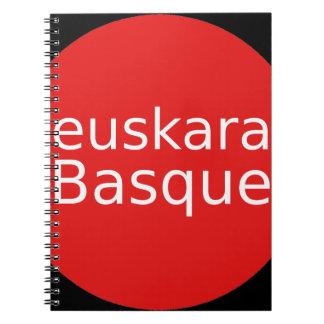 Cadernos Espiral Design da língua Basque