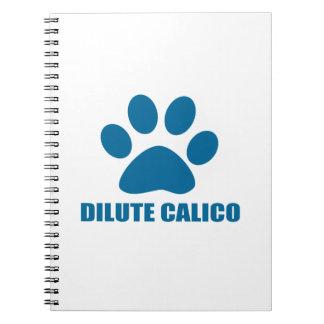 CADERNOS ESPIRAL DESIGN DILUÍDO DO CAT DE CHITA