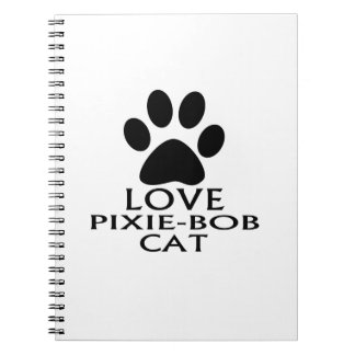 CADERNOS ESPIRAL DESIGN DO CAT DO AMOR PIXIE-BOB