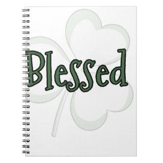 Cadernos Espiral Design do dia de St Patrick abençoado