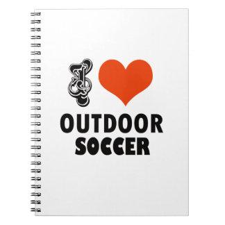 Cadernos Espiral design do futebol