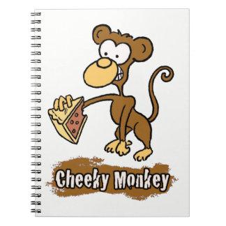 Cadernos Espiral Design insolente dos desenhos animados do macaco