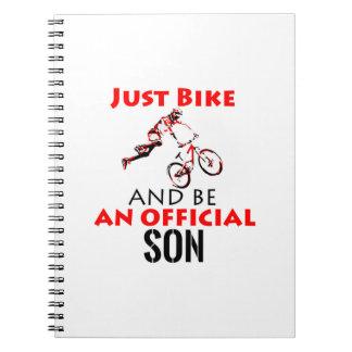 Cadernos Espiral design legal da bicicleta do monthain