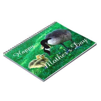 Cadernos Espiral Dia das mães feliz - ganso de mãe