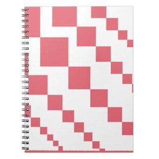 Cadernos Espiral Diamantes descendentes corais