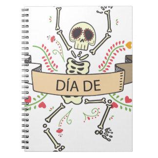 Cadernos Espiral Diâmetro DE Festival do morto