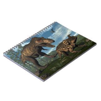 Cadernos Espiral Dinossauro de ataque do einiosaurus do rex do