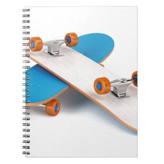 Cadernos Espiral Dois skates