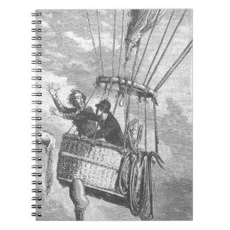 Cadernos Espiral Drama em um balão de ar quente