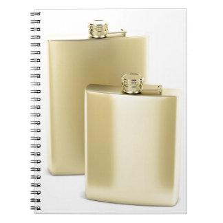 Cadernos Espiral Duas garrafas ancas douradas