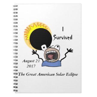 Cadernos Espiral Edição da sobrevivência do eclipse 2017 solar