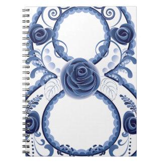 Cadernos Espiral Eight2 floral azul