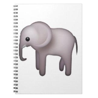 Cadernos Espiral Elefante - Emoji