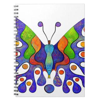 Cadernos Espiral Elenissina - borboleta colorida