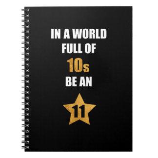 Cadernos Espiral Em um cheio do mundo dos dez, seja uns onze.