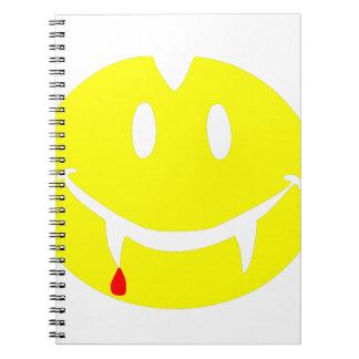 Cadernos Espiral emoji dracula do vampiro