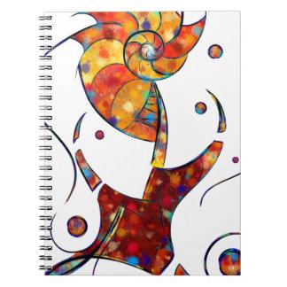 Cadernos Espiral Espanessua - flor espiral imaginária