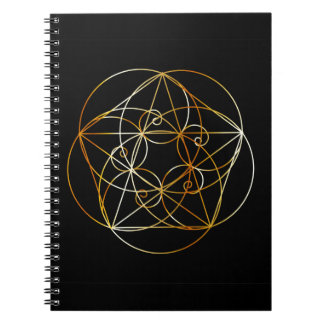 Cadernos Espiral Espiral de Fibonacci a geometria sagrado