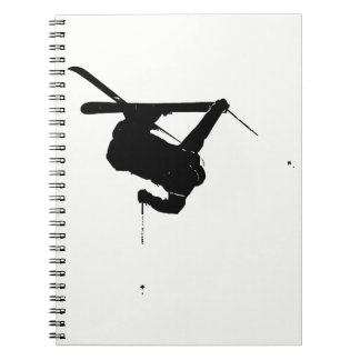 Cadernos Espiral Esquiador preto & branco