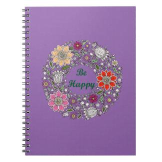Cadernos Espiral Esteja feliz