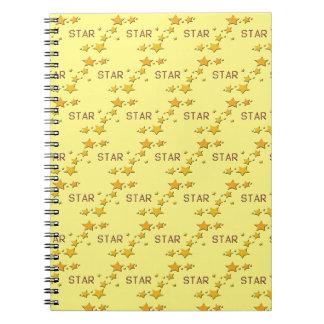 Cadernos Espiral estrelas