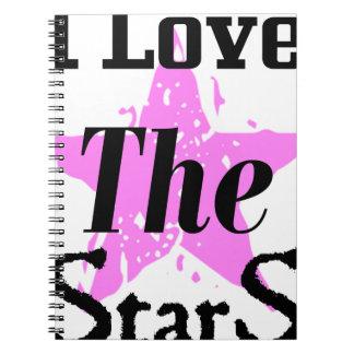 Cadernos Espiral Eu amo as estrelas