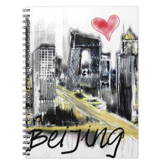 Cadernos Espiral Eu amo Beijing
