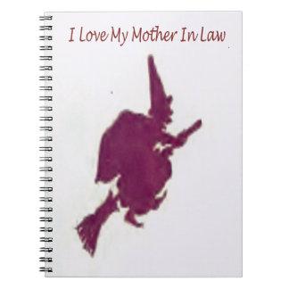 Cadernos Espiral Eu amo minha mãe em law1