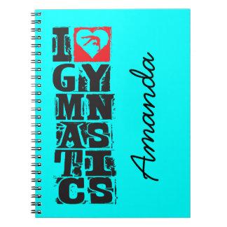 Cadernos Espiral Eu amo o caçador da ginástica personalizado