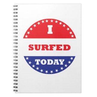 Cadernos Espiral Eu surfei hoje